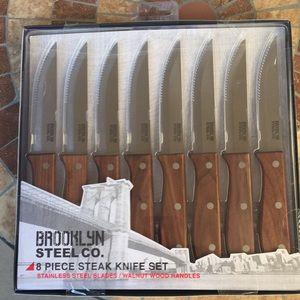 Brooklyn Steel Co. 8 piece Steak Knife Set NIB